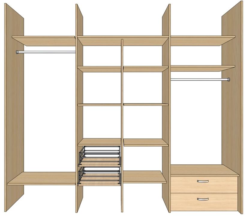 Наполнение для шкафов купе - фабрика74 - шкафы купе в Челяби.